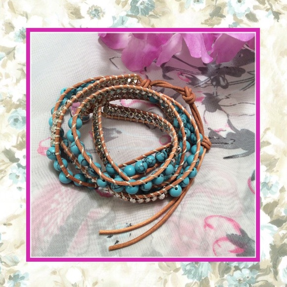 Wrap Around Bracelet  Beach Bracelet  Tribal Bracelet  Beads Bracelet  Hippie Bracelet  Multistrand Bracelet  Stretch Bracelet